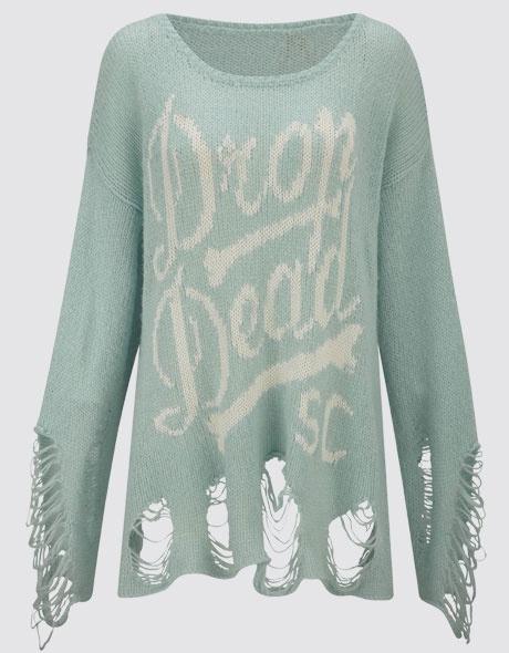 Boner Knitted Jumper, Drop Dead Clothing  #DDPINTOWIN