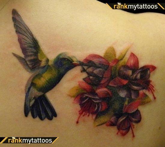 Rudbeckia Tattoo Design Red