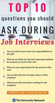 Top 10 Questions College Students Should Ask Employers During Job Interviews