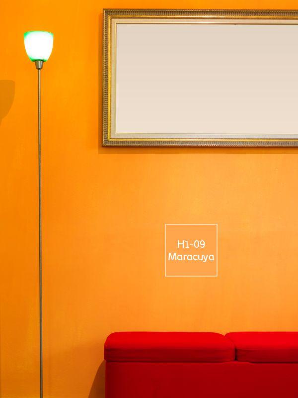 El naranja es un color incandescente que promueve la for Colores pintura interior