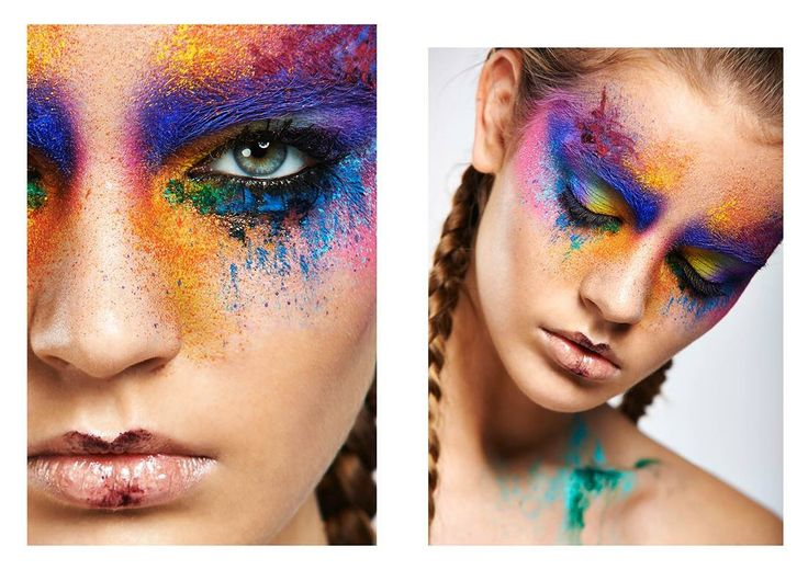 Farbenfrohes Make up