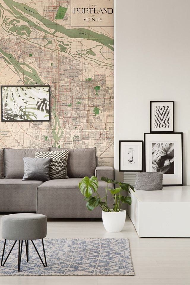 Living Room Decor Ideas Living Room Design Map Wall Murals Antique Map Murals In 2020 Furniture Design Interior Design Living Room Designs #wall #mural #ideas #for #living #room