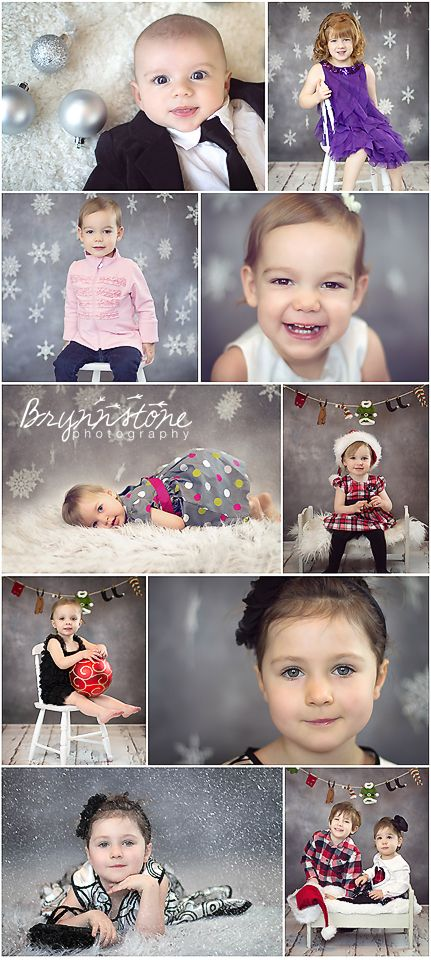 Holiday Mini Sessions - Snowflakes & Ornaments | Merry Christmas. Loving the dark grey backdrop.