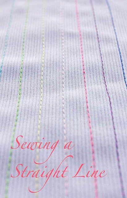 Comment coudre des lignes droites. il est beaucoup plus difficile que vous le pensez! Didacticiels pour autodidacte potes comme moi!