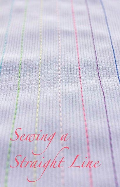 How to sew straight lines.