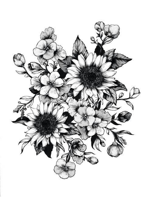 Flower tattoo to go on my thigh