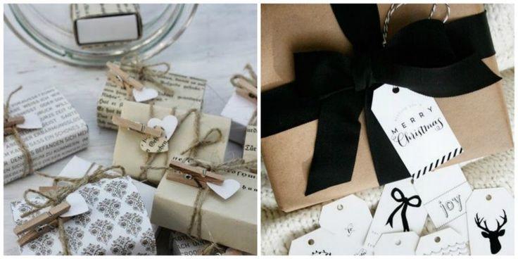 Paketointivinkkejä mustavalkoiseen jouluun   Modern Christmas Gift-Wrapping: La Dolce Vita