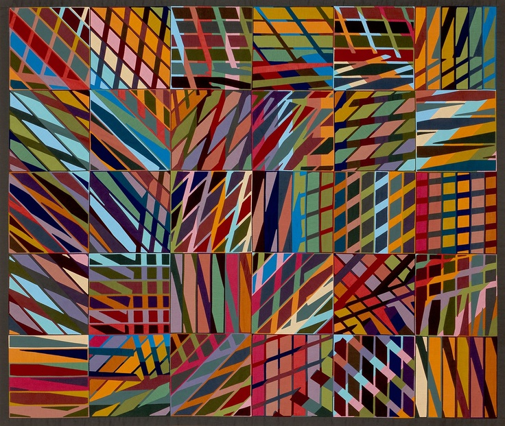 Another work by Anne McKenzie Nickolson that proves a grid can be elevated into something that transcends itself!