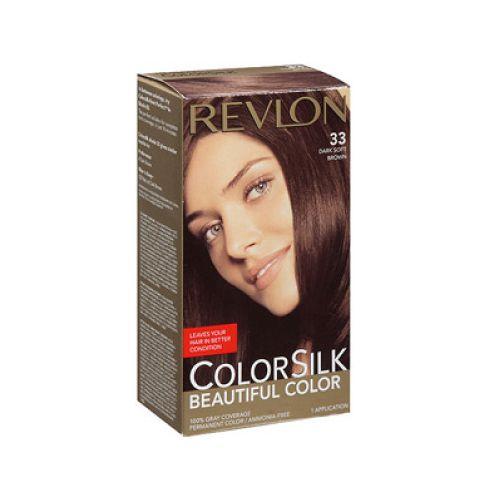 Revlon Revlon c silk tinte dark soft brown Tinte de larga duración, que deja tu cabello en mejores condiciones,le da la apariencia natural, incluso el color de la raíz a la punta, el cabello se ve más sedoso, brillante y saludable que antes de tinturar.