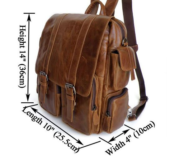 "ModernManBags.com - ""Lima"" Men's Vintage Leather Convertible Backpack"