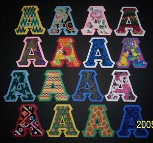 Stitched Sorority Fraternity Letters Any Greek All Available IronOn Alpha Omega | eBay