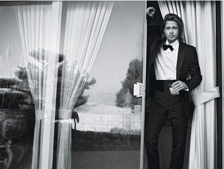 Brad Pitt.  Photographs by Mario Sorrenti  Styled by Edward Enninful
