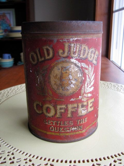 Rare Vintage Spice Tins | RARE Antique Old Judge Coffee Tin 1900's by LilandLou on Etsy