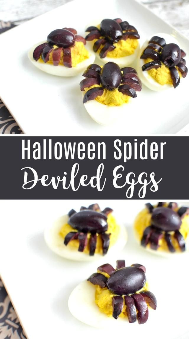 spider deviled eggs recipe halloween deviled eggs - Deviled Eggs For Halloween Spider