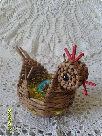 Craft výrobek Velikonoční Weaving Chickens mini + Krashenki Velikonoce Novinový papír Photo 3