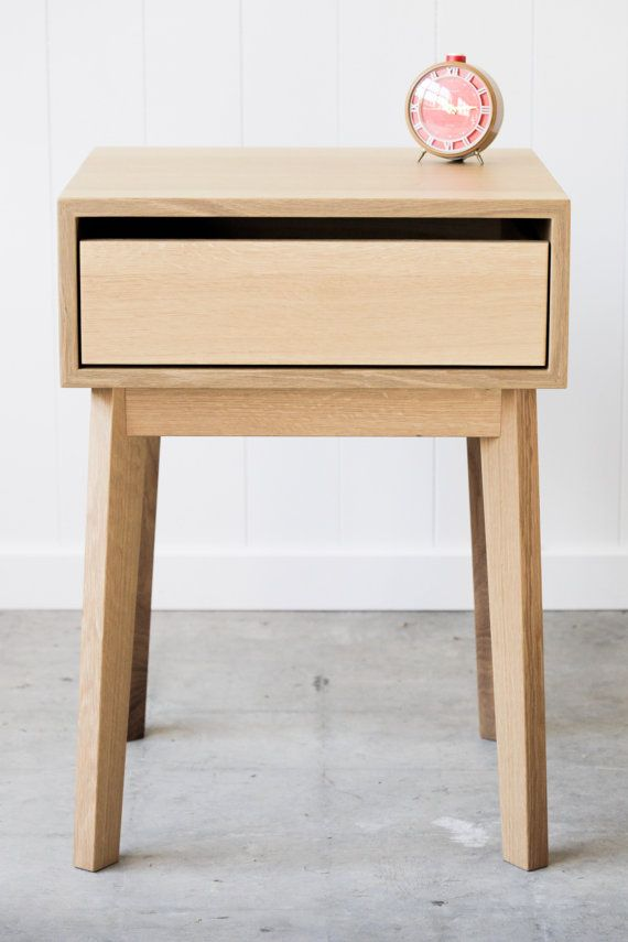Two in stock - Solid White Oak Nightstand
