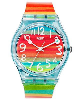 Swatch Watch, Unisex Swiss Color the Sky Rainbow Plastic Strap 34mm GS124 - Men's Watches - Jewelry & Watches - Macy's