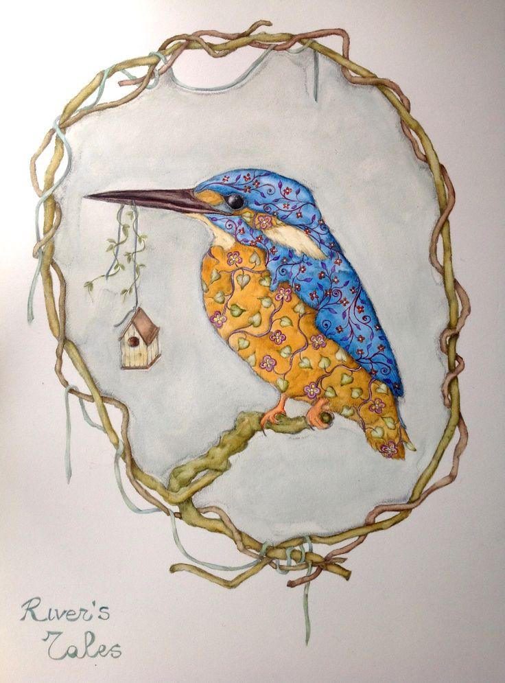 Kingfisher watercolor #painting #birdillustration