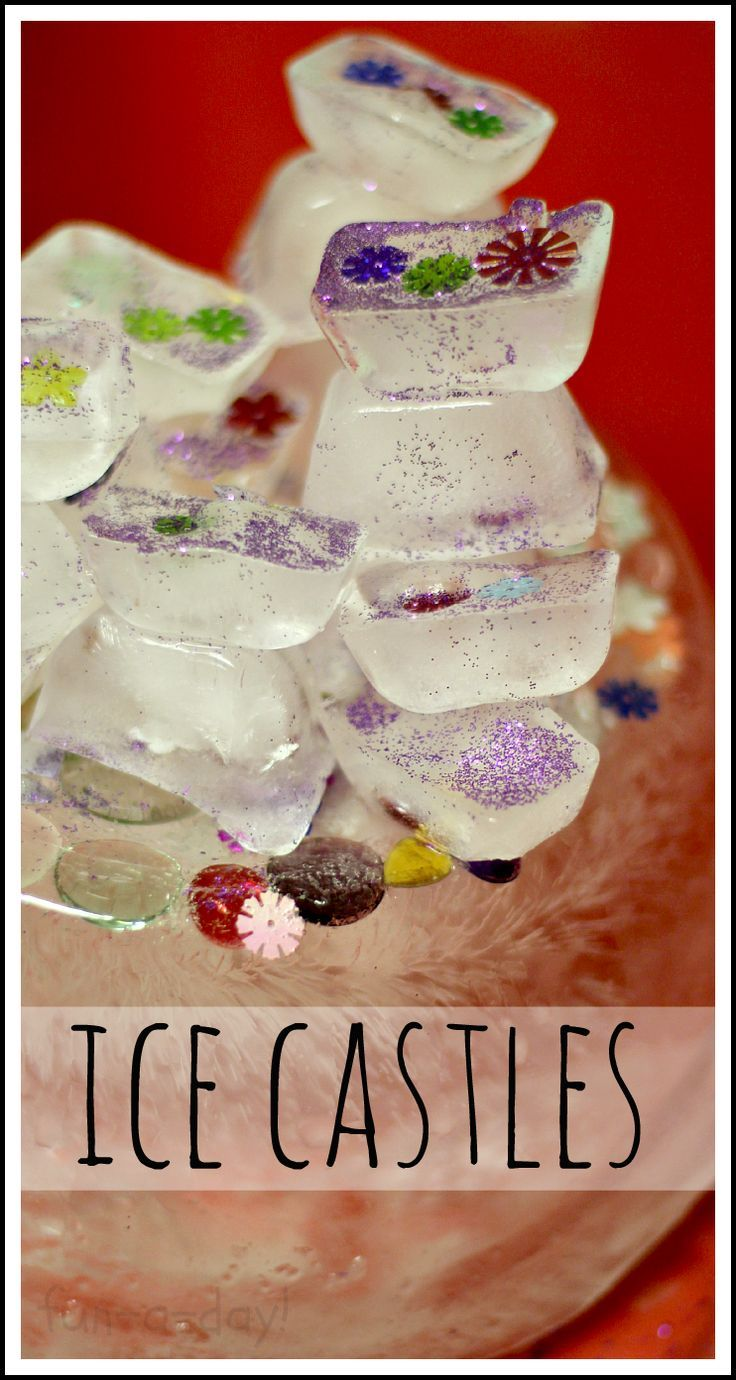 "Melting Ice Castles -- This preschool science experience was Inspired by my students' love of ""Frozen"".  Perfect for a fairy tale them, or just because!"