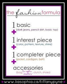 """The Fashion Formula always encouraged by Stacy London & Clinton Kelly on TLC's """"What Not To Wear!"""""""