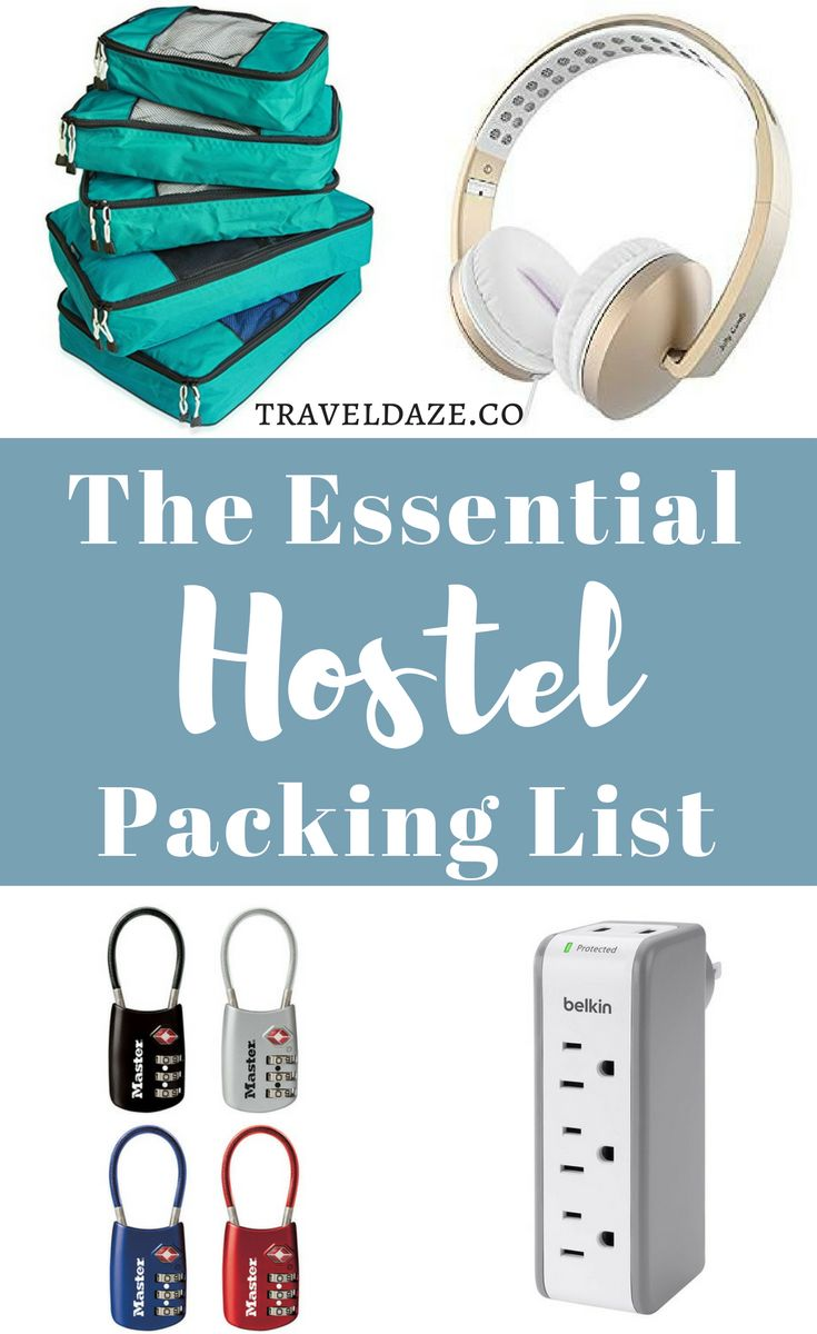 Everything you need to pack for your trip if you're staying hostels #hostel #packinglist