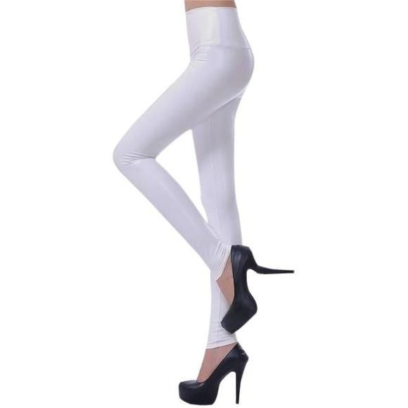 043d660746b Faux Leather Ankle Leggings - Trendsology