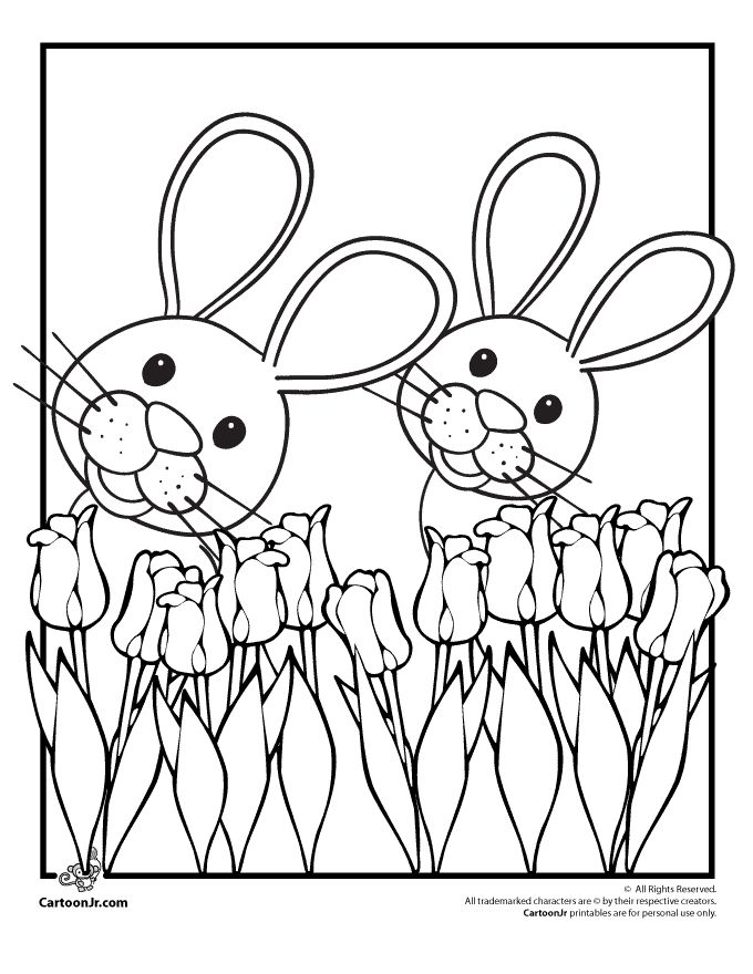 chubby bunny coloring pages - photo#23