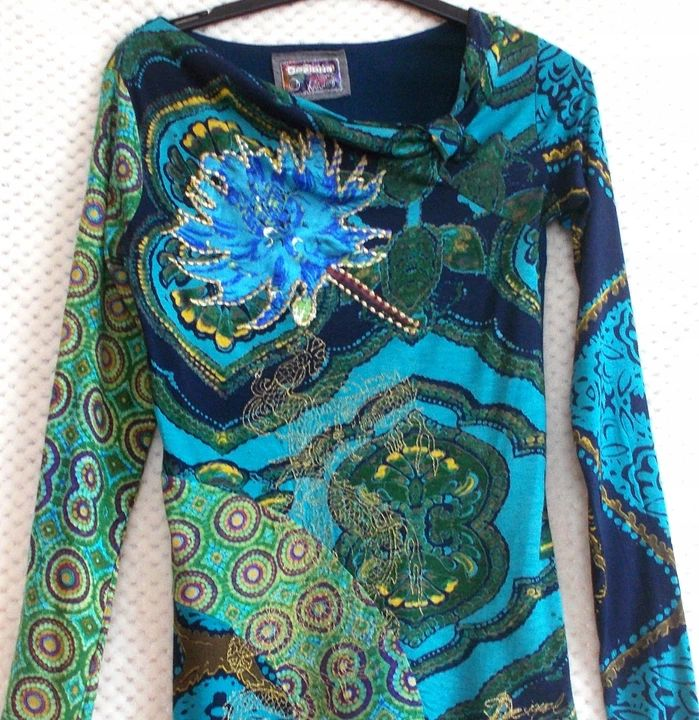 Desigual Przepiekna Bluzka Dekolt Ideal J Nowa 38 8304302850 Oficjalne Archiwum Allegro Fashion Style Women S Top