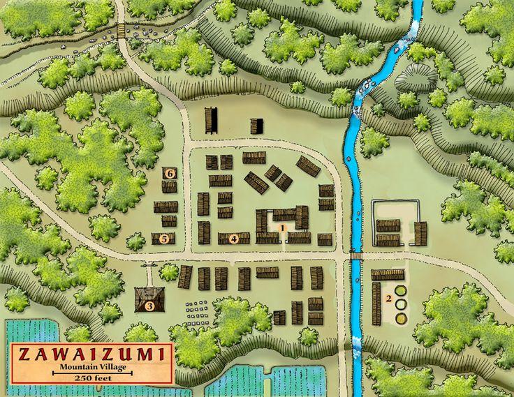 map village japanese layout fantasy maps japan rpg asian drawing google landscape zoeken samurai oriental castle dnd cities talkgraphics game