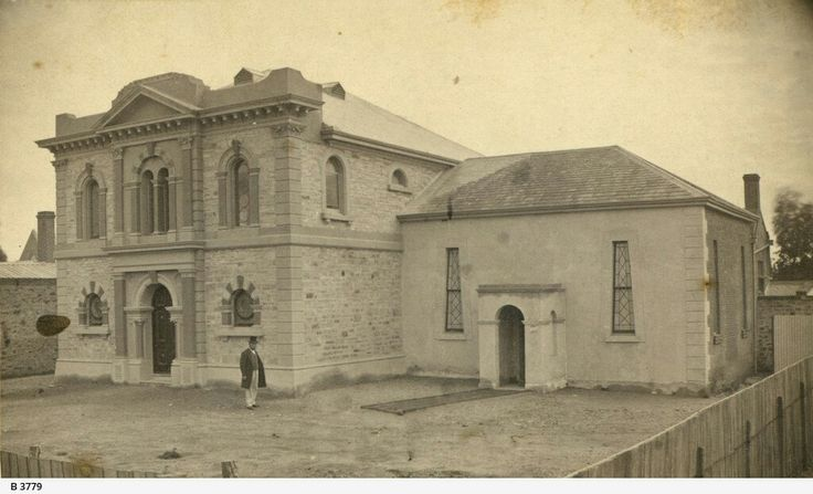 The Synagogue on Rundle St,Adelaide in South Australia in 1871.