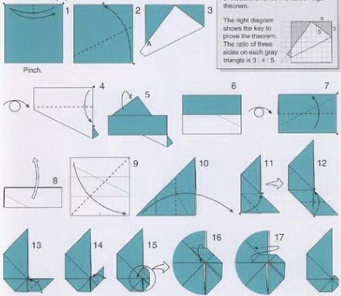 The Mathematics, Laws and Theory Behind Origami Crease Patterns | 603x695