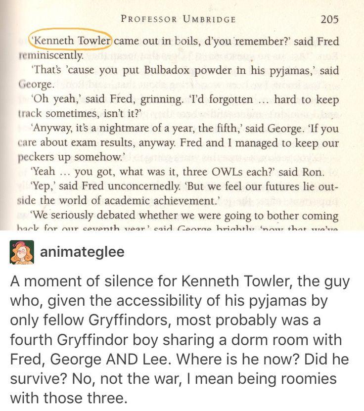 Fred weasley, George weasley, lee Jordan, Harry Potter, hp, Kenneth Towler