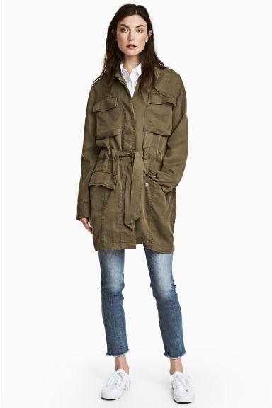 Куртка карго из лиоцелла - Хаки - Женщины | H&M RU 1