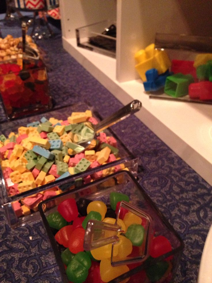 Lego party candy bar - sweet Buffet-