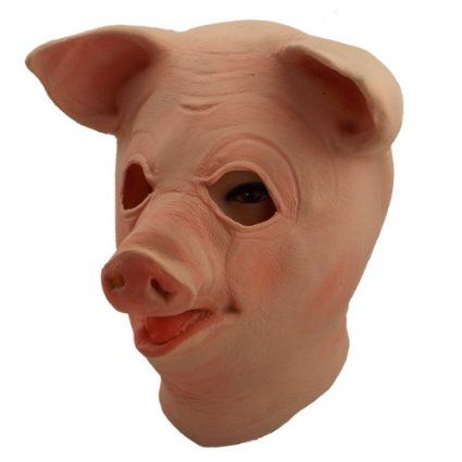 Gmasking Big Eyes Latex Pig Head Mask ** Find out more about the great product at the image link.  sc 1 st  Pinterest & The 9 best Pig images on Pinterest | Piglets Costume accessories ...