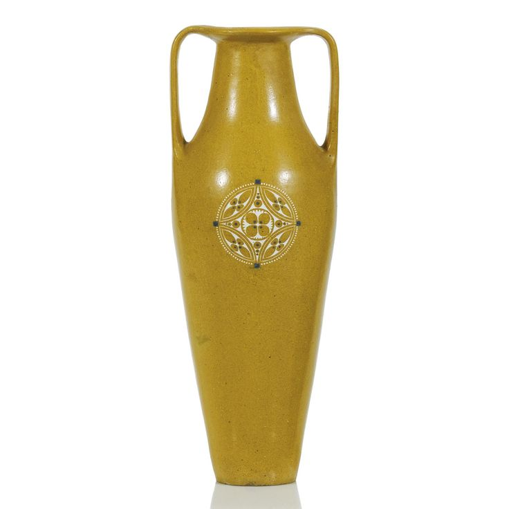 A Voorheen Amstelhoek earthenware vase designed by Chris van der Hoef probably 1906