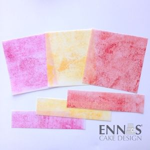 New way to color Wafer Paper — Ennas' Cake Design