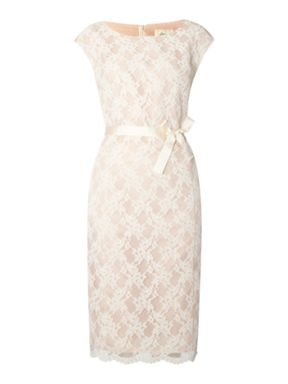 I want this beautiful dress!!! Linea Lace shift dress Nude - House of Fraser