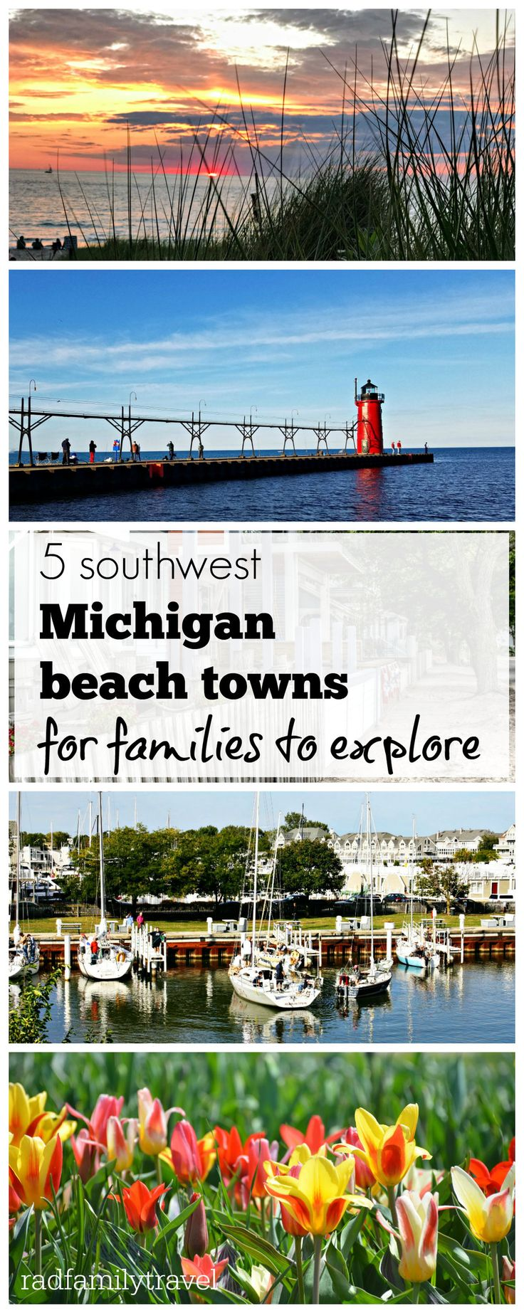 5 Michigan beach towns for families who like to explore. Fantastic things to do along Lake Michigan; discover beaches, playgrounds, shopping, eating and more!