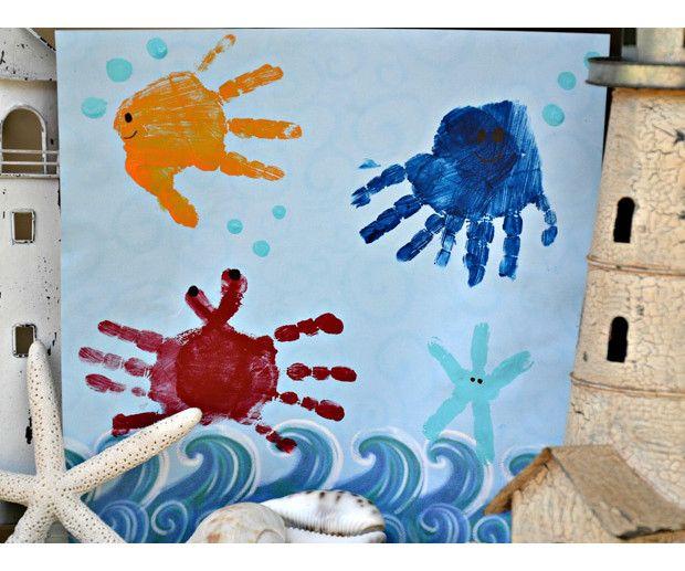 mural fondo marino hecho por niños - Buscar con Google