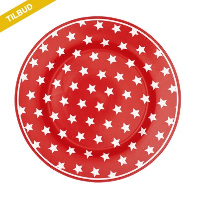 Frokost tallerken Star Red STW