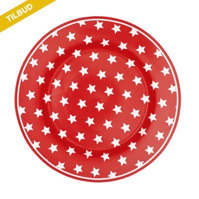 Frokost tallerken Star Red STW