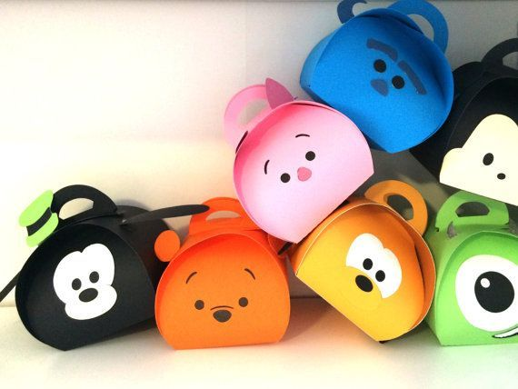 Tsum Tsum Party Favor Boxes Large size by PaperBottega on Etsy