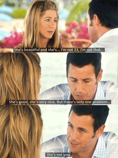 Jennifer Aniston and Adam Sandler - Just Go With It #movie #quote such a funny and sweet movie