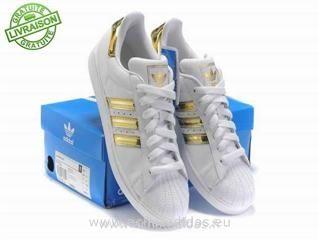 Adidas Superstar Blanche Et Verte