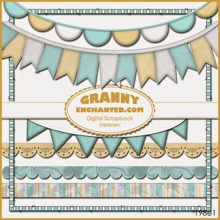 Monday's Guest Freebies ~ Granny Enchanted * Follow the Free Digital Scrapbook board for daily freebies: https://www.pinterest.com/sherylcsjohnson/free-digital-scrapbook/ * Visit GrannyEnchanted.Com for thousands of digital scrapbook freebies. *