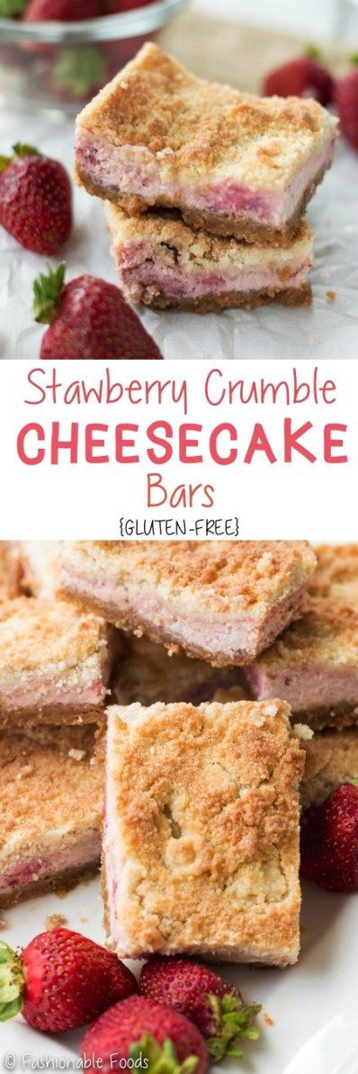 Strawberry crumble cheesecake bars are the perfect sweet treat for summer! A homemade graham cracker crust holds a creamy strawberry cheesecake filling and the whole thing gets topped off with a sweet crumb topping.