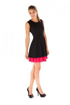Redress Siyah Fuşya Elbise Lidyana
