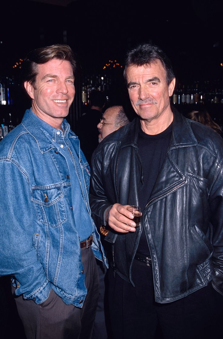 Peter Bergman and Eric Braeden rockin' epic jackets in 2002. #tbt #YR