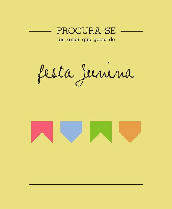PROCURA-SE by Thaís Aragão, via Behance #poster para barraca do beijo?